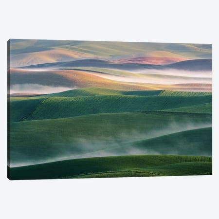 Foggy Morning Canvas Print #OXM5518} by Austin Canvas Art Print