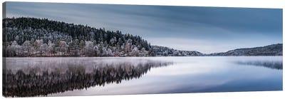 Lake Gra En Panorama Canvas Art Print