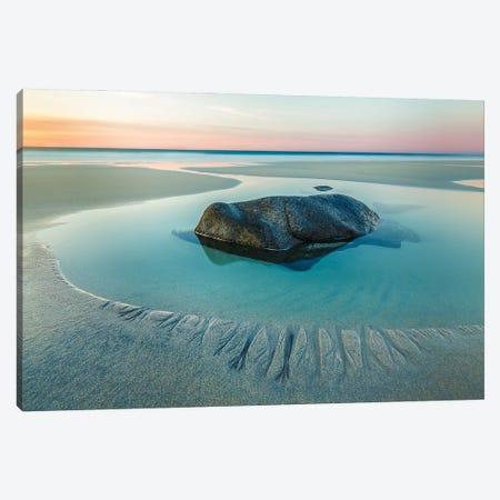 Sunset On Uttakleiv Beach Canvas Print #OXM5525} by Charlie Nowlan Canvas Print