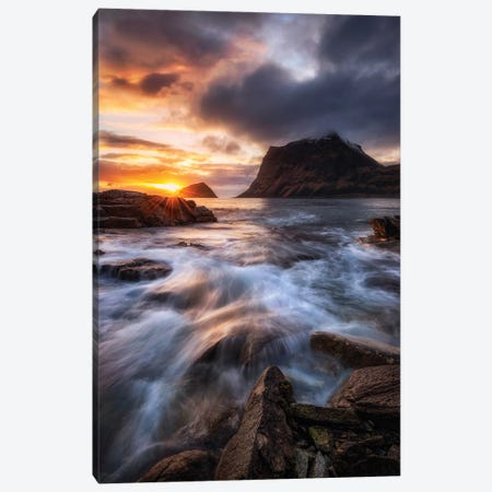 Northern Coast Sunset Canvas Print #OXM5534} by Daniel Gastager Canvas Art