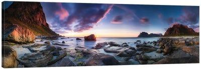 Utakleiv Sunset Canvas Art Print