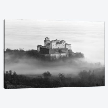 Castle Over The Fog Canvas Print #OXM5556} by Elena Mordacci Canvas Artwork