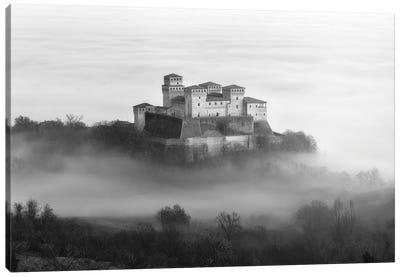 Castle Over The Fog Canvas Art Print