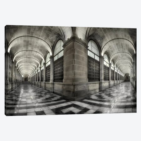 The Corridors Of The Escorial 3-Piece Canvas #OXM5567} by Fran Osuna Canvas Art Print