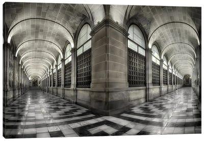 The Corridors Of The Escorial Canvas Art Print