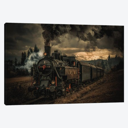 Gold Digger Train Canvas Print #OXM5581} by Hubert Bichler Canvas Wall Art