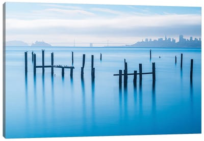 The Old Pier Of Sausalito Canvas Art Print