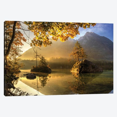 Lake Hintersee Canvas Print #OXM5599} by keller Canvas Print
