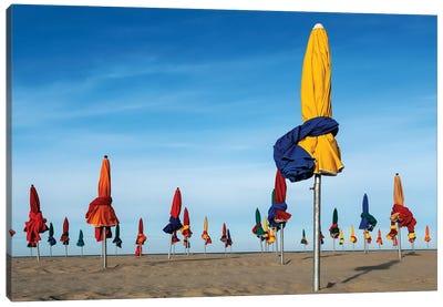 Les Parapluies De Deauville Canvas Art Print