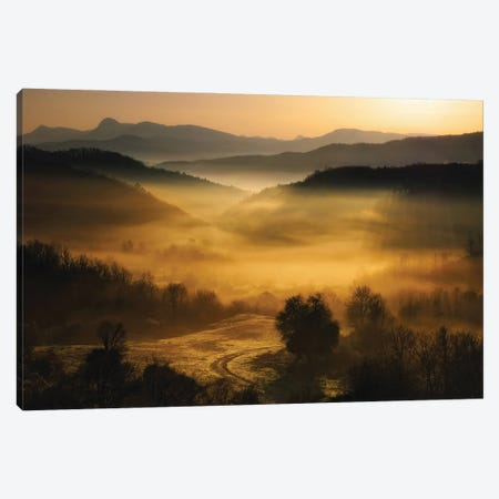 Underneath The Veil Canvas Print #OXM5619} by Maria Kaimaki Canvas Artwork