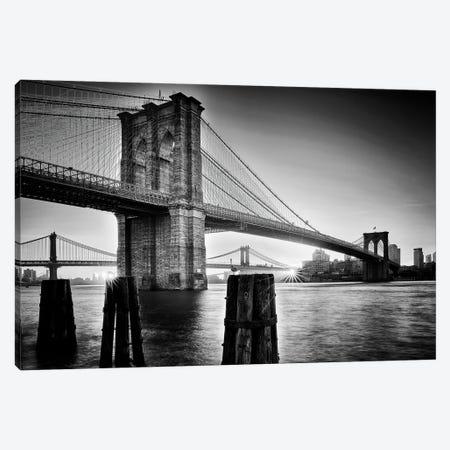 Brooklyn Bridge - Sunrise Canvas Print #OXM5622} by Martin Froyda Art Print