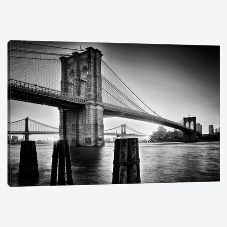 Brooklyn Bridge - Sunrise Canvas Print #OXM5622} by Martin Froyda Art Print