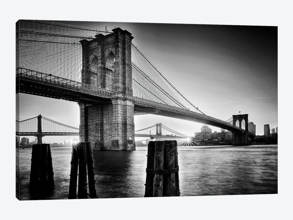 Brooklyn Bridge - Sunrise by Martin Froyda 1-piece Art Print
