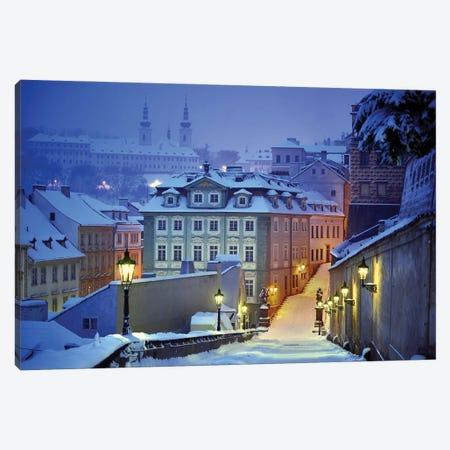 Prague In White Canvas Print #OXM5623} by Martin Froyda Canvas Art Print