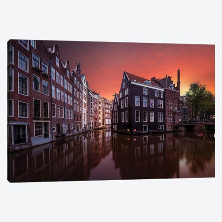 Amsterdam Dawn Canvas Print #OXM5631} by Merakiphotographer Canvas Artwork