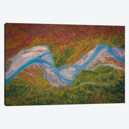 Matanuska River Canvas Print #OXM5636} by Michael Zheng Art Print