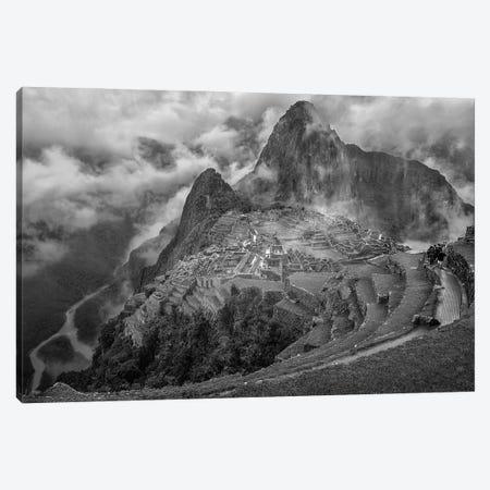 Fog In The Machu Picchu Canvas Print #OXM5671} by Richard Huang Canvas Wall Art