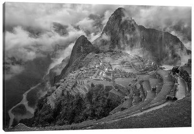 Fog In The Machu Picchu Canvas Art Print