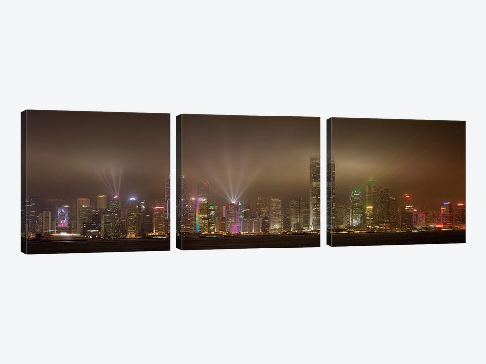 Hong Kong Island by Daniel Murphy 3-piece Canvas Artwork