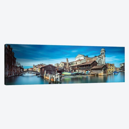 Gondola Workshop In Venice Canvas Print #OXM5691} by Sven Kohnke Canvas Wall Art