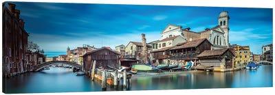 Gondola Workshop In Venice Canvas Art Print
