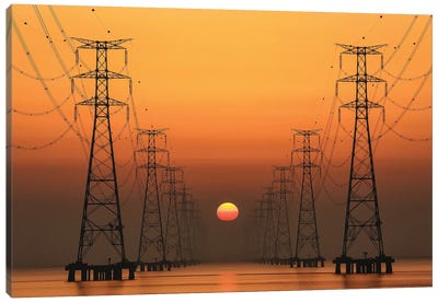 Power Line Canvas Art Print