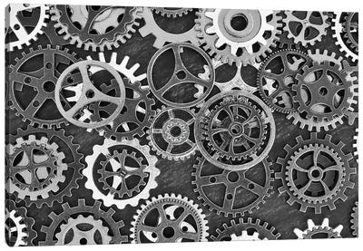 Just A Cog In The Wheel Canvas Art Print