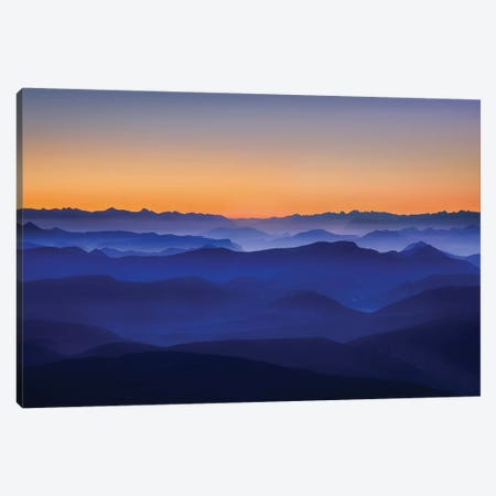 Misty Mountains Canvas Print #OXM570} by David Bouscarle Canvas Artwork