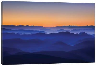 Misty Mountains Canvas Print #OXM570