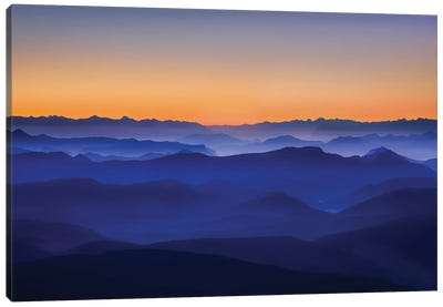 Misty Mountains Canvas Art Print