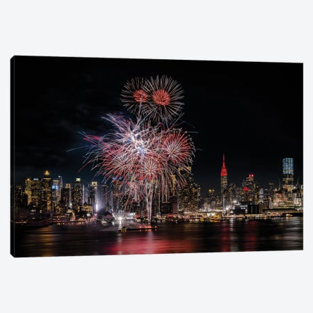 Festive New York City Canvas Print #OXM5715} by Wei Dai Canvas Artwork