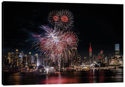 Festive New York City Canvas Art Print