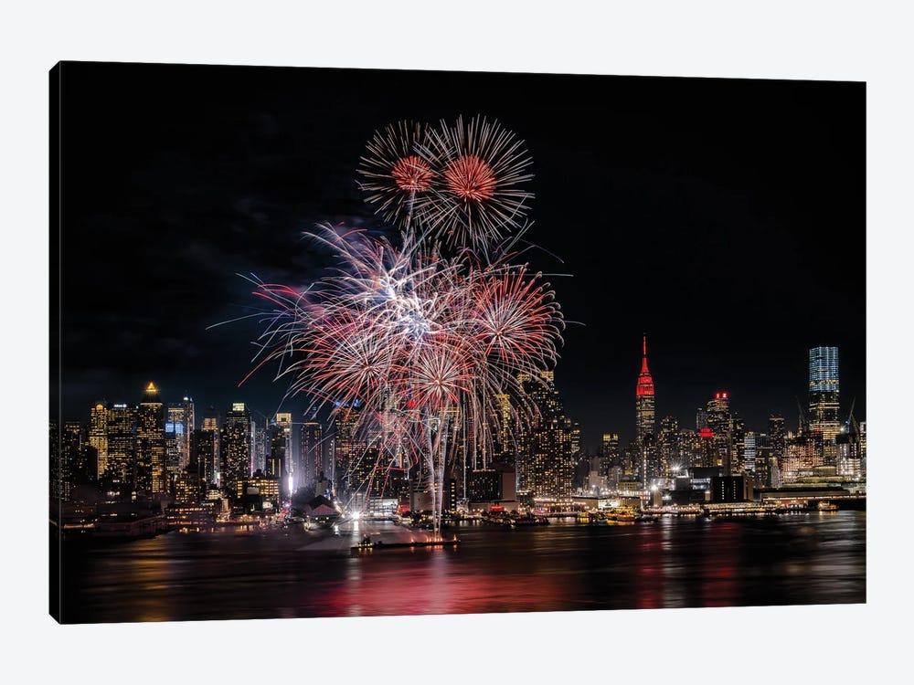 Festive New York City by Wei Dai 1-piece Canvas Artwork