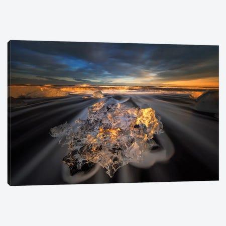 Jokulsarlon Diamond Canvas Print #OXM5718} by Wojciech Kruczynski Canvas Art Print