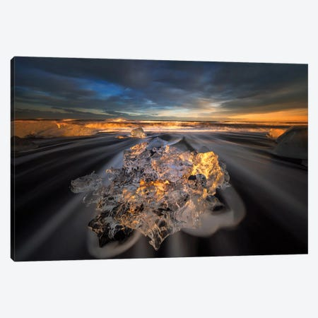 Jokulsarlon Diamond Canvas Print #OXM5718} by Wojciech Kruczynski Canvas Art Print