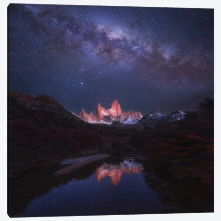 Patagonia Autumn Night Canvas Print #OXM5722} by Yan Zhang Canvas Art