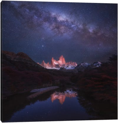 Patagonia Autumn Night Canvas Art Print