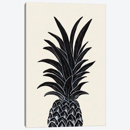 Black Pineapple Canvas Print #OXM5737} by 1X Studio Canvas Art