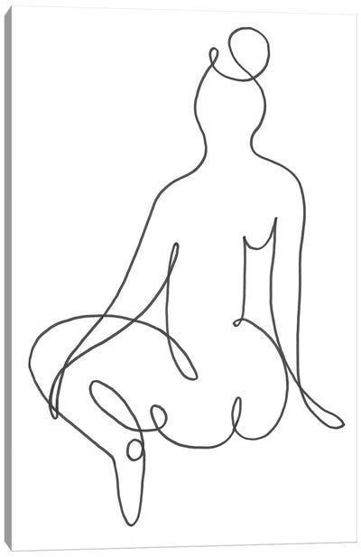 Sitting Down I Canvas Art Print