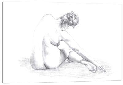 Sketch Of A Woman Canvas Art Print