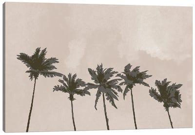 Windy Palm Trees Canvas Art Print