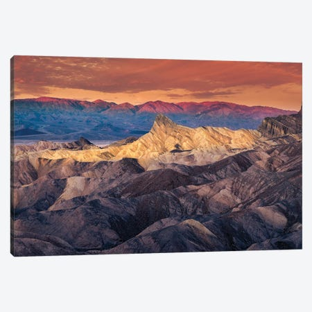 Dawn At Death Valley Canvas Print #OXM5771} by Abbas Ali Amir Canvas Art Print