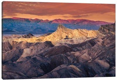 Dawn At Death Valley Canvas Art Print