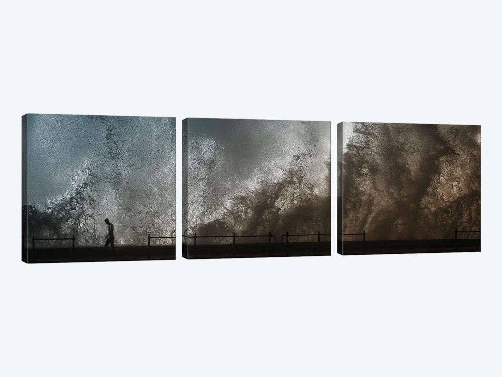 Out Of Rage ... by Ahmed Abdulazim 3-piece Canvas Art Print