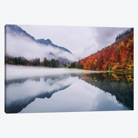 Autumn Reflections Canvas Print #OXM5790} by Ales Krivec Canvas Art Print
