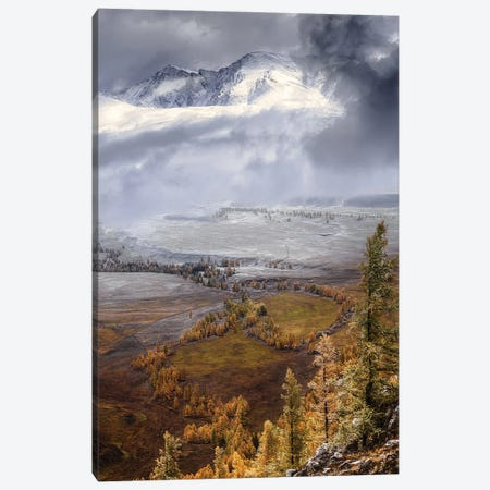 Meeting Autumn With Winter (Altai) Canvas Print #OXM5809} by Anna Pakutina Canvas Print