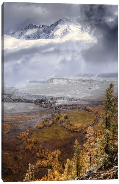 Meeting Autumn With Winter (Altai) Canvas Art Print
