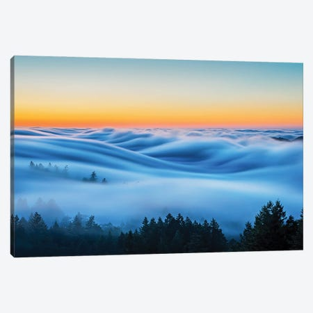 Flowing Clouds Canvas Print #OXM5818} by Annie Poreider Canvas Artwork