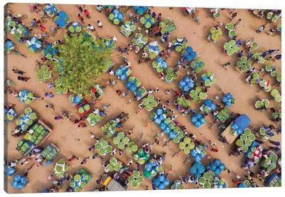 Largest Fruit Market Canvas Art Print