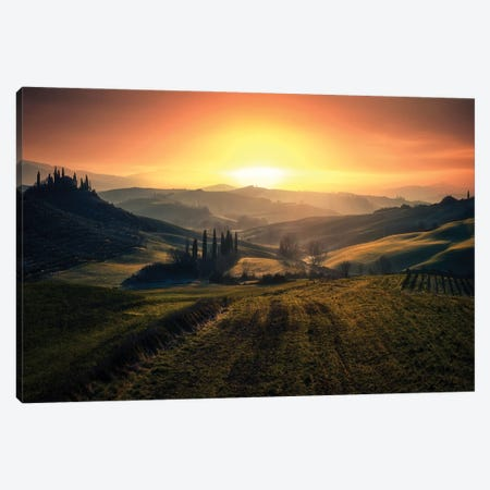 Val D'Orcia In The Morning Canvas Print #OXM5878} by Fabrizio Massetti Canvas Art